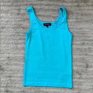 Karen Kane Super Soft Tank Aqua Blue Turquoise